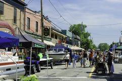 Annual trade fair of rural country Stock Photos