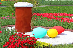 Annual traditional flower exhibition Easter in Kyiv, Ukraine Stock Image