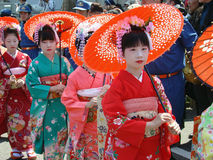 Annual traditional parade of geisha in Japan Stock Image