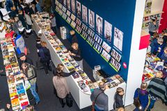 Annual traditional Vilnius Book Fair `20 years after` in Vilnius, Litexpo Exhibition Center royalty free stock images