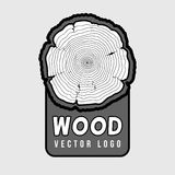 Annual tree growth rings, trunk cross section hipster vector log Stock Photography
