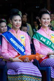 The annual Umbrella Festival in Chiang Mai. CHIANG MAI, THAILAND - JANUARY 15: Participants in the beauty contest during the annual Umbrella festival in Chiang Stock Photos