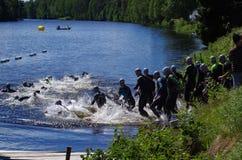 Vansbro Triathlon 30.06.2018. The annual Vansbro Triathlon is held in the town of Vansbro in Dalarna,Sweden Stock Photography
