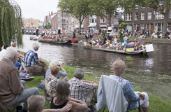Annual Westland Corso. Delft,Westland,- august 2016: The Varend Corso Westland is an annual event with beautiful flowers and plants and delicious vegetables in stock photo