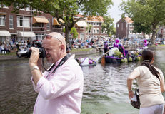 Annual Westland Corso. Delft,Westland,- august 2016: The Varend Corso Westland is an annual event with beautiful flowers and plants and delicious vegetables in stock photography