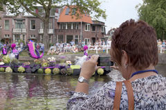 Annual Westland Corso. Delft,Westland,- august 2016: The Varend Corso Westland is an annual event with beautiful flowers and plants and delicious vegetables in stock photos