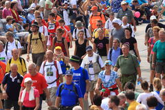 An annually recurring large walking event Royalty Free Stock Image