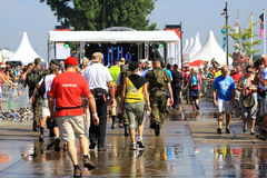 An annually recurring large walking event Royalty Free Stock Photography