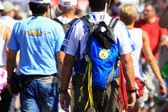 An annually recurring large walking event Stock Image