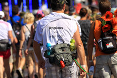 An annually recurring large walking event. Where several nationalities take part in the Netherlands royalty free stock photo