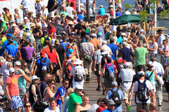 An annually recurring large walking event Royalty Free Stock Images