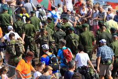 An annually recurring large walking event. Where several nationalities take part in the Netherlands Stock Photo