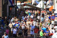 An annually recurring large walking event. Where several nationalities take part in the Netherlands Stock Images