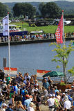 An annually recurring large walking event. Where several nationalities take part in the Netherlands stock image