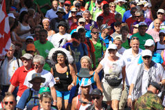 An annually recurring large walking event,. Where several nationalities take part in the Netherlands royalty free stock photo