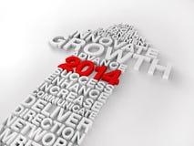 2014 annuels ou croissance de rapport d'entreprise Image libre de droits