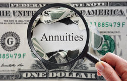 Annuities look Stock Photography