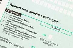 Annuities tax. German tax form for the tax year 2009 Royalty Free Stock Photos