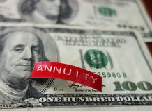 Annuity investing concept stock photo