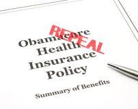 Annulation estampée sur Obamacare photographie stock