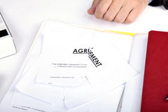 Annuleer contract stock foto's