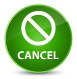 Annuleer (het pictogram van het verbodsteken) elegante groene ronde knoop Stock Foto