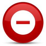 Annuleer pictogram speciale rode ronde knoop Stock Afbeeldingen