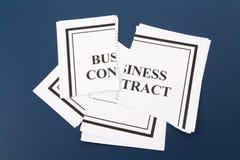 Annulez le contrat d'affaires Image stock