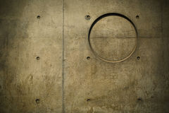 Annulus. There is a ring and some stains on the concrete wall Royalty Free Stock Photography