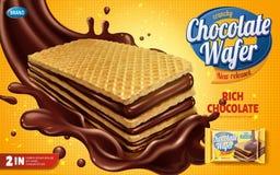 Annunci del wafer del cioccolato royalty illustrazione gratis