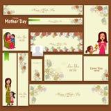 Annunci o intestazione sociali di media per la celebrazione di festa della Mamma Immagine Stock Libera da Diritti