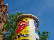annunci per il concerto di Rolling Stones a Amburgo Immagine Stock Libera da Diritti