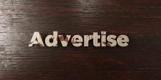 Annunci - titolo di legno grungy sull'acero - l'immagine di riserva libera della sovranità resa 3D Immagini Stock Libere da Diritti