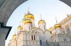 Annunciaationkerk in Moskou het Kremlin De Plaats van de Erfenis van de Wereld van Unesco Royalty-vrije Stock Foto