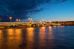 Annunciation άσπρη νύχτα Ιουλίου γεφυρών Πετρούπολη Άγιος Στοκ Φωτογραφίες