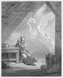 Annunciation από τον άγγελο Gabriel Στοκ φωτογραφία με δικαίωμα ελεύθερης χρήσης