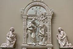 Annunciation από το della Robbia του Giovanni Στοκ φωτογραφία με δικαίωμα ελεύθερης χρήσης