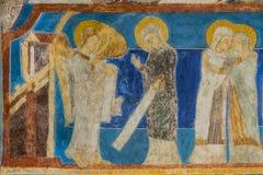 Annunciation, αρχάγγελος Gabriel λέει τη Mary ότι θα είναι Στοκ Φωτογραφία