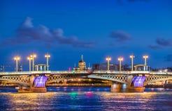 Annunciation γέφυρα στη Αγία Πετρούπολη Στοκ Εικόνες