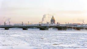 Annunciation γέφυρα στη Αγία Πετρούπολη Στοκ Φωτογραφίες