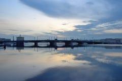 Annunciation γέφυρα στο ηλιοβασίλεμα Στοκ Εικόνες