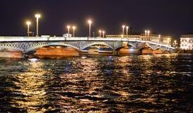 Annunciation γέφυρα τη νύχτα Στοκ εικόνες με δικαίωμα ελεύθερης χρήσης