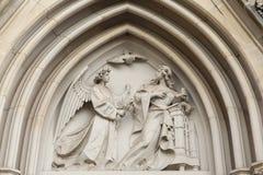 Annunciation Γοτθική ανακούφιση στον καθεδρικό ναό Olomouc Στοκ φωτογραφίες με δικαίωμα ελεύθερης χρήσης
