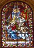 Annunciation λεκιασμένο άγγελος γυαλί Σαν Φρανσίσκο Μαδρίτη της Mary Στοκ Εικόνες