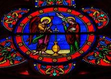 Annunciation - λεκιασμένο γυαλί Στοκ Εικόνες