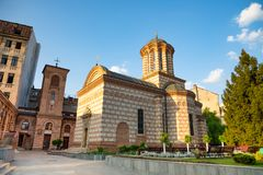 Annunciation εκκλησία Αγίου Anthony, που θεωρείται το Βουκουρέστι ` s παλαιότερη εκκλησία, Ρουμανία Στοκ εικόνα με δικαίωμα ελεύθερης χρήσης