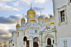 Annunciation εκκλησία στη Μόσχα Κρεμλίνο Περιοχή παγκόσμιων κληρονομιών της ΟΥΝΕΣΚΟ Στοκ φωτογραφία με δικαίωμα ελεύθερης χρήσης