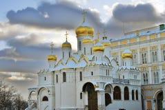 Annunciation εκκλησία στη Μόσχα Κρεμλίνο Περιοχή παγκόσμιων κληρονομιών της ΟΥΝΕΣΚΟ Στοκ Εικόνες