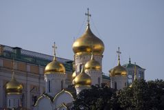 Annunciation εκκλησία της Μόσχας Κρεμλίνο Περιοχή παγκόσμιων κληρονομιών της ΟΥΝΕΣΚΟ Μεγάλος πύργος κουδουνιών του Ivan Στοκ φωτογραφία με δικαίωμα ελεύθερης χρήσης