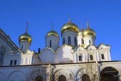 Annunciation εκκλησία της Μόσχας Κρεμλίνο Φωτογραφία χρώματος Στοκ φωτογραφίες με δικαίωμα ελεύθερης χρήσης